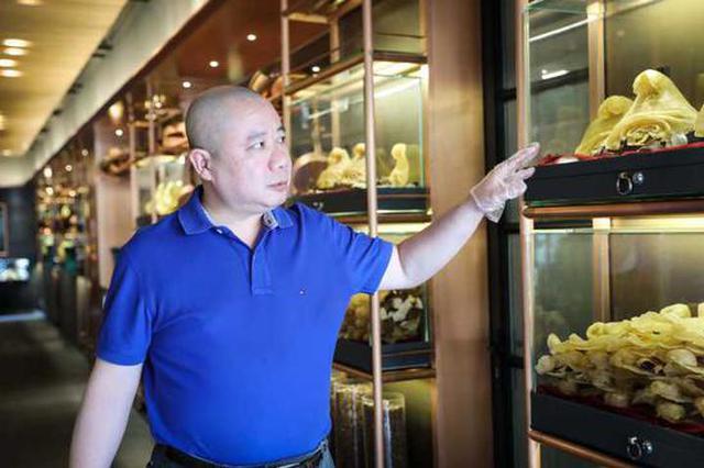杭州老板用俩房间收藏上千件花胶 最贵一件值百万