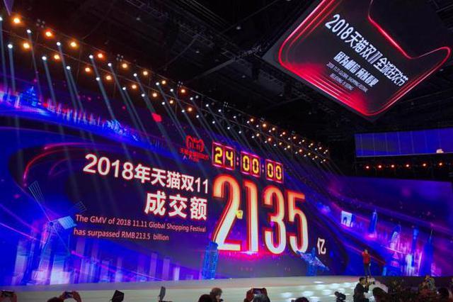 双11交易额达2135亿创新高 ?#23665;欢?#26368;多省份浙江排第2