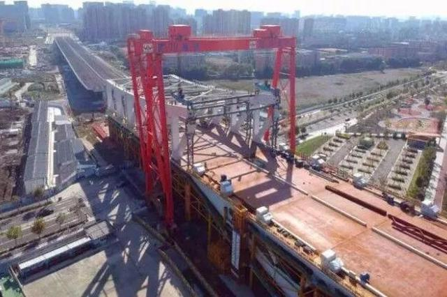 宁波三官堂大桥建设有重大进展 边跨大节段完成安装