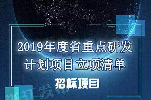 2019年浙江重点研发计划项目公布 共426个项目
