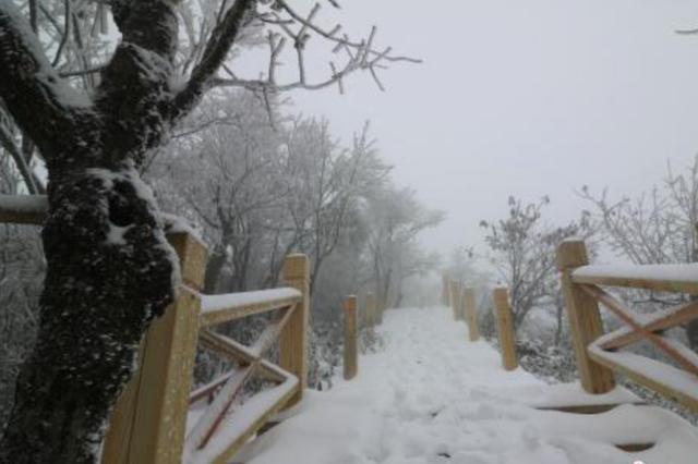 湖州安吉积雪厚度已达15公分 正常旅游出行受影响