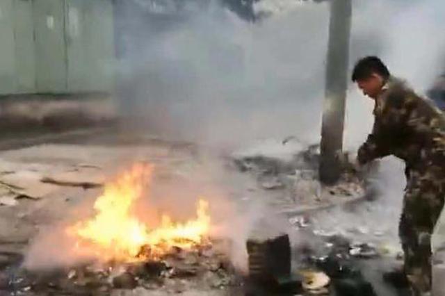 宁波一消防员在开车接带家属途中发现火灾成功处置
