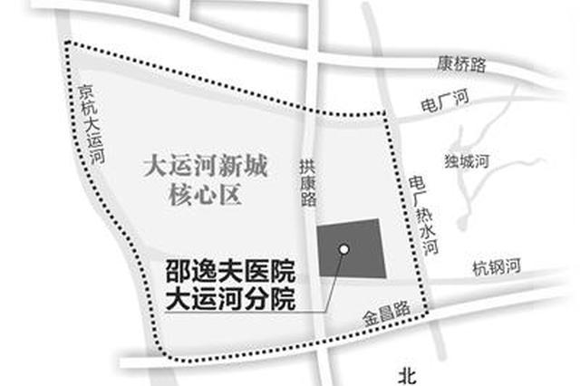 邵逸夫医院大运河分院落户康桥 预计明年年底开工
