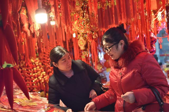春节临近 金华年货市场购销两旺