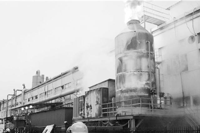 杭州1厂房外金属罐起火 罐口喷出一米多高火焰(图)
