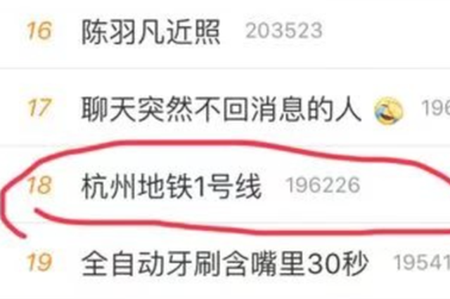 杭州地铁1号线上了热搜 因列车突发?#25910;?#23548;致乘客滞留