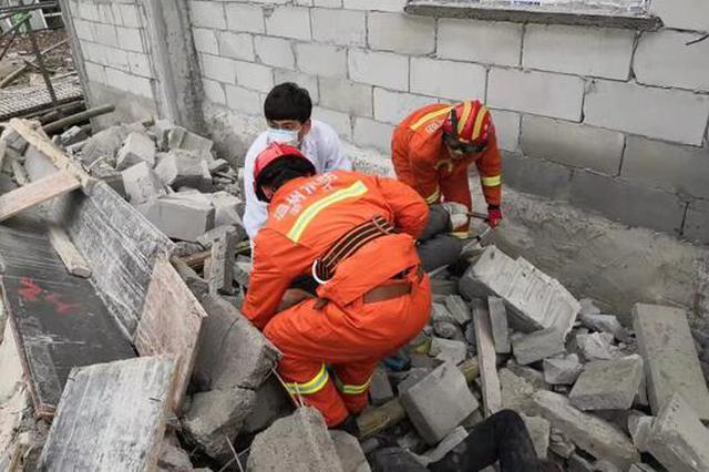 温州平阳一在建工地坍塌3人被埋 事故原因还在调查中