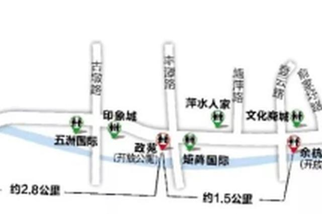 杭州有条美美的沿河游步道 沿途只有1个没开放的公厕