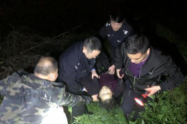 浙江乐清暴雨夜全城寻人 75岁老人失足落水获救