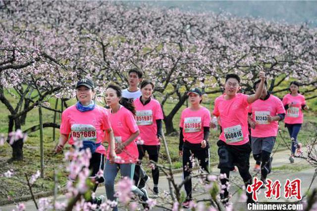 2019宁波奉化海峡两岸桃花马拉松举行 吸粉百人台湾团
