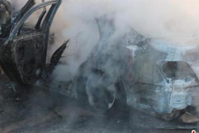 湖州1轿车起火司机被困 过路市民火中救助后悄然离去