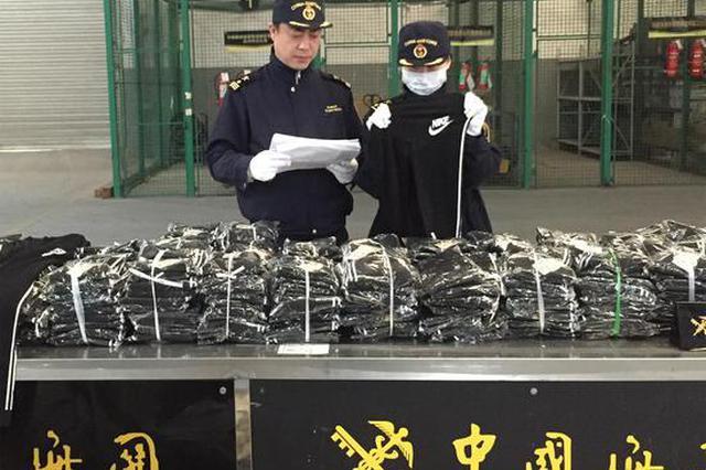 300件山寨耐克被查扣 杭州海关确认其为侵权货物(图)