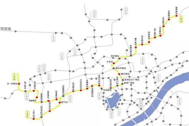 地铁3号线线路示意图