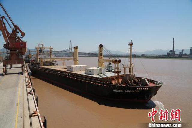 宁波舟山港至印尼集散杂三用专线定期班轮首航