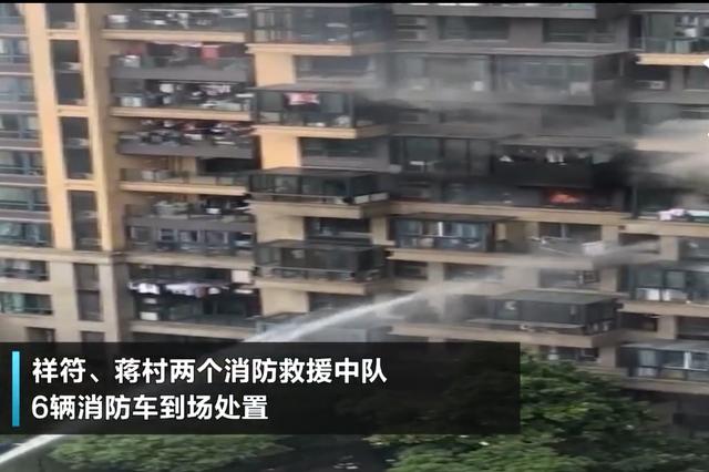 杭州金地自在城七楼起火 可能是蚊香惹的祸