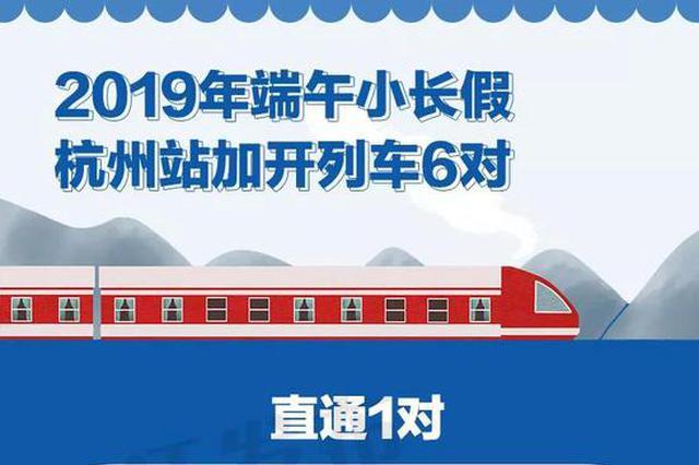 端午假期高速不免费 铁路杭州站加开33.5对旅客列车
