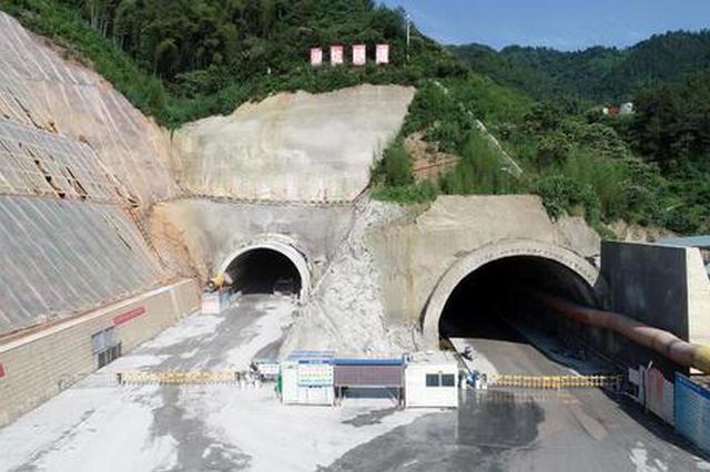 千黄高速淳安段全线最长隧道预计今年8月双向贯通