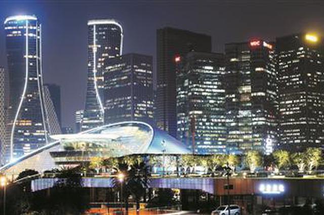 杭州钱江新城璀璨夜景很国际 外地摄影师纷纷来打卡