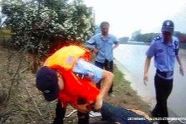 嘉兴一男子发朋友圈欲跳河轻生 民警上演急速营救