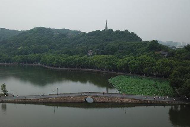 航拍杭州西湖 迤逦景色惹人醉(组图)