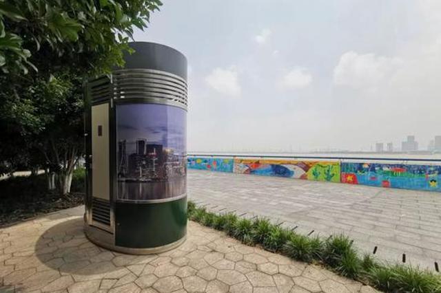 杭州第1座移动景观公厕位于江干区 小巧便捷功能多样