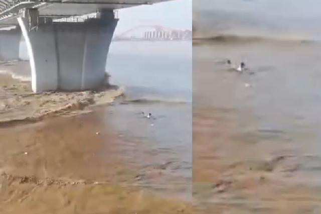 潮水凶险 杭州九堡大桥下3人被潮水卷走 1人遇难