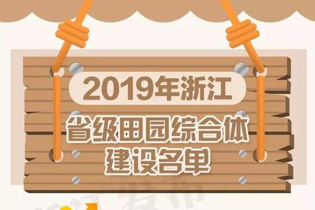 浙10地入选省级田园综合体建设单位 每个补助1800万