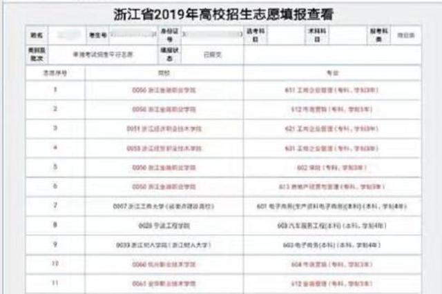 台州一考生因高考成绩不理想篡改同学志愿 被拘留