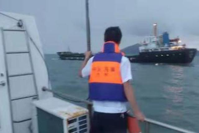 货轮触礁 台州海事紧急处置13人脱险