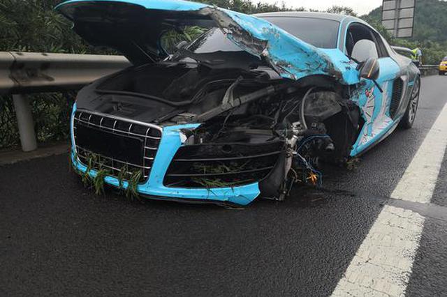 浙23岁小伙穿拖鞋开豪车上高速 事故后却一无所知