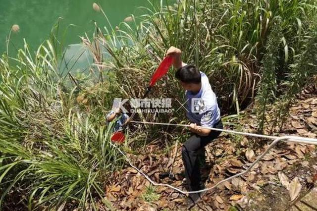 群众报警称水面有尸体 杭州警方:用完的东西不要乱扔