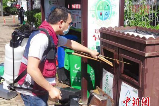 浙江台州多地开展灾后防疫 守护受灾民众卫生安全