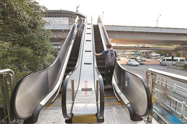杭州秋涛路庆春东路人行天桥已修好 恢复整体通行