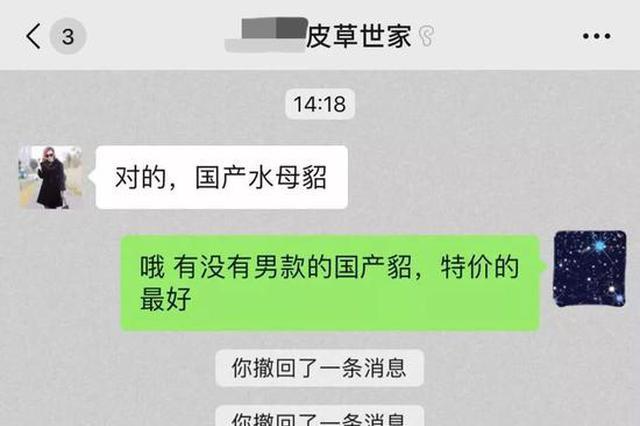 杭州女子微信群里买价值上万皮草 结果上当受骗