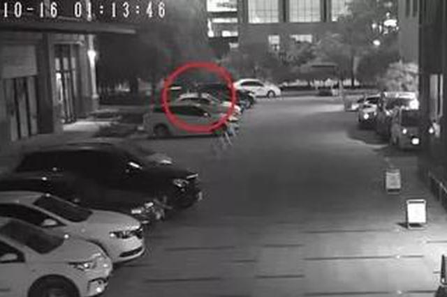 杭州一男子深夜在路边拉车门 被发现后开启影帝模式