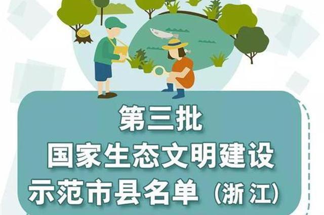 浙有10地成为国家级示范市县和基地 杭这些地方上榜