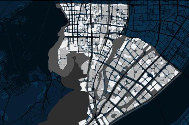 杭州上城未来夜色这么美 湖滨钱江北岸五颜六色