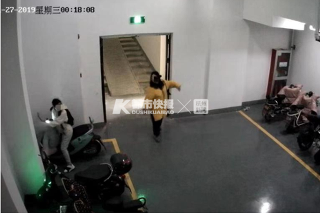 浙两名90后姑娘半夜摸进车库 为偷未拔钥匙的电动车