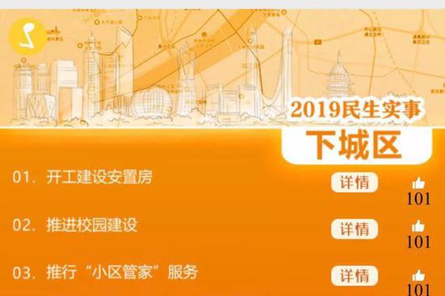 杭13个区、县(市)和钱塘新区汇报为民办实事成绩