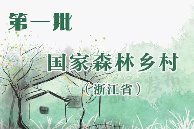 浙江249地获金名片 第一批国家森林乡村有你家乡吗
