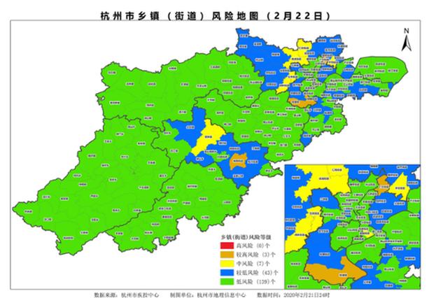 最新杭州乡镇(街道)风险地图 高风险地区0个