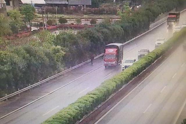 雨天高速上司机一顿神操作 金华高速交警紧急处置