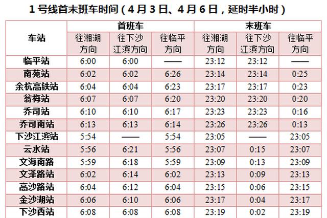 清明杭州地铁运营时间有调整 公交开通10条扫墓专线