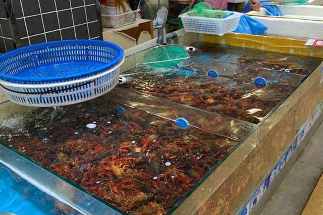 50元可以吃3斤 今年杭州市场上的小龙虾便宜了不少