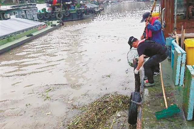 打捞垃圾漂浮物120多吨 是他们让杭州运河洁美畅通