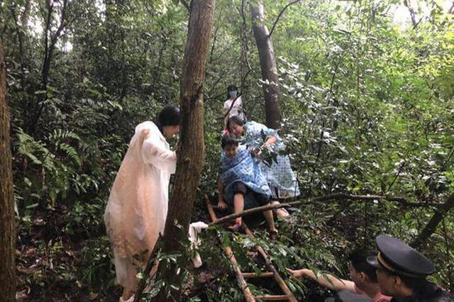 7名游客被困杭州西湖陡坡 景区人员长梯相助脱险