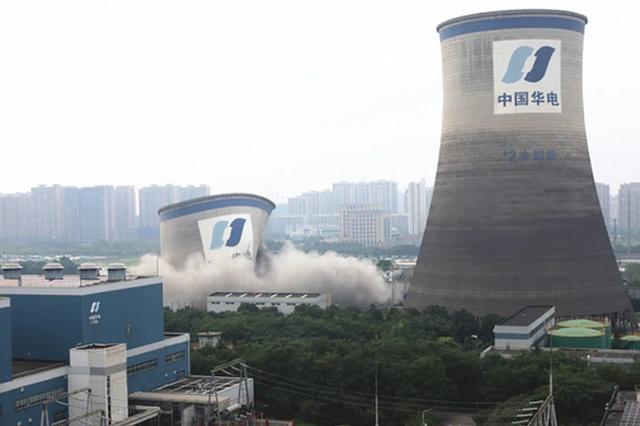 杭州大城北1标志物冷却塔拆除 图片直击见证历史时刻