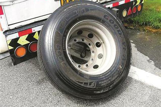 浙小轿车在高速公路上截停危化品车:师傅 你轮胎掉了