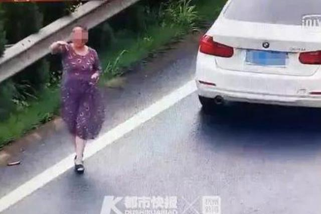 令人瞠目结舌 浙江1女子在高速匝道口刹车倒车招手