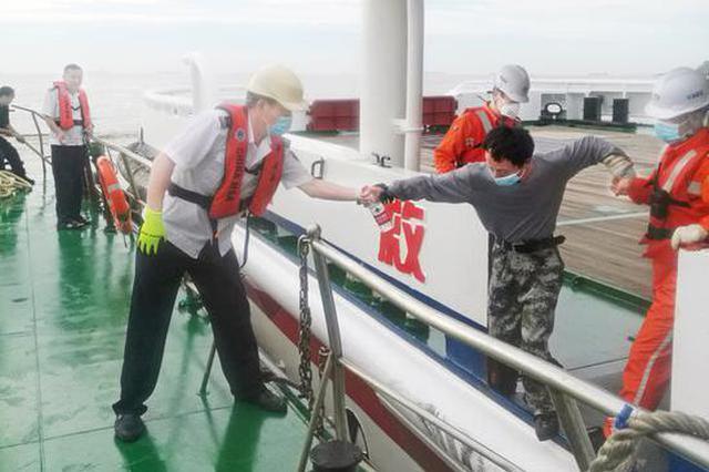 一内河砂石船浙江海域沉没 4名落水船员获救(图)
